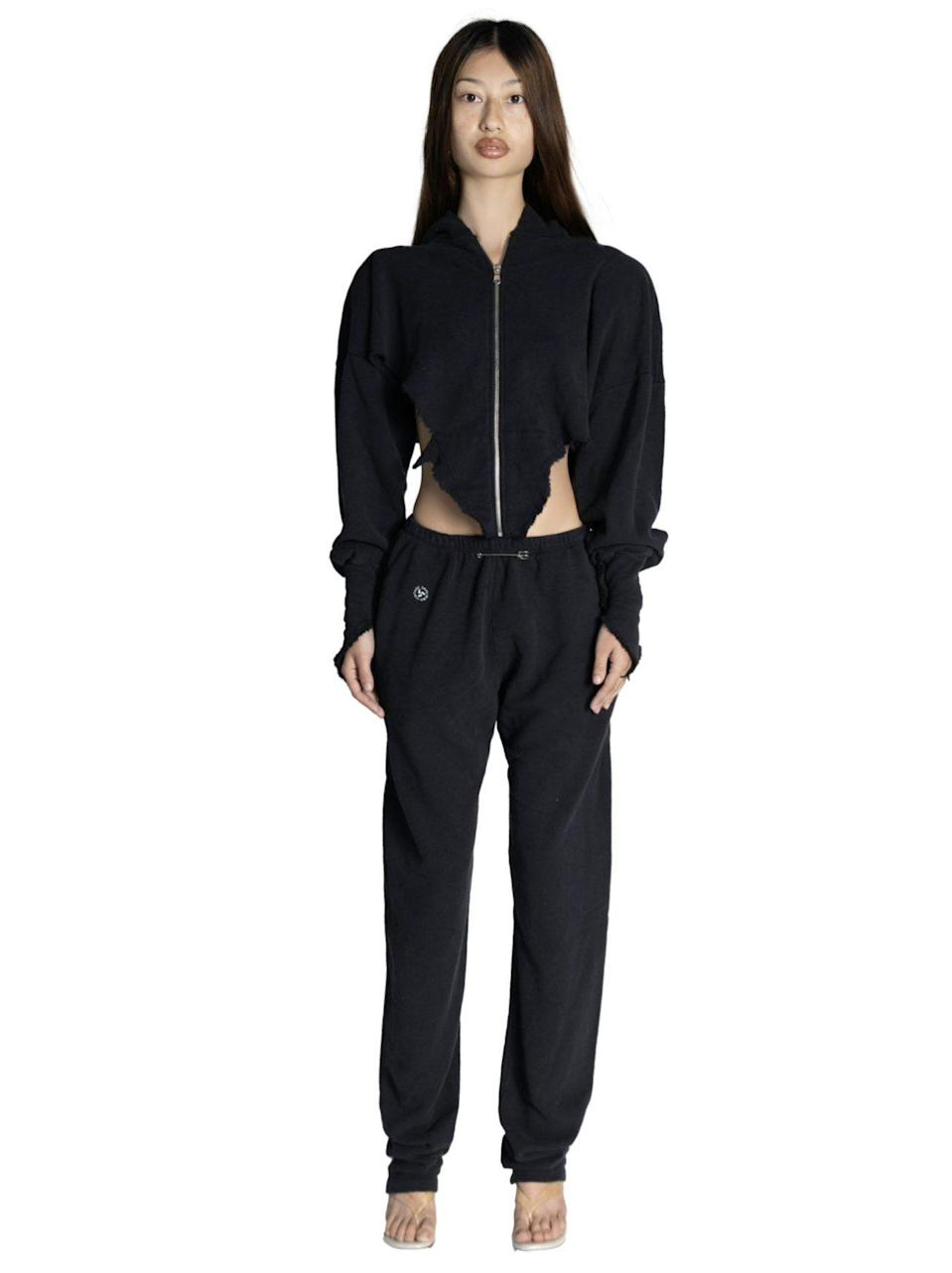 """<p><strong>Sami Miro Vintage</strong></p><p>samimirovintage.com</p><p><strong>$285.00</strong></p><p><a href=""""https://samimirovintage.com/collections/fw20-bottoms/products/sweatpants-in-black"""" rel=""""nofollow noopener"""" target=""""_blank"""" data-ylk=""""slk:Shop Now"""" class=""""link rapid-noclick-resp"""">Shop Now</a></p><p>These sweats are so soft and made with up-cycled fabric.""""</p>"""