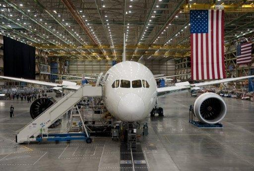 <p>A Boeing 787 Dreamliner under construction at the Boeing plant in Everett, Washington, February 17, 2012. ANA is Boeing's biggest Dreamliner customer so far, with 17 of the world's 50 operational 787s.</p>