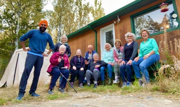 A group of Saskatchewan women who graduated in 1969 still get together every other September. Their latest reunion took these young-at-heart 70-year-olds to the Yukon to learn bhangra dancing. (Gurdeep Pandher/Twitter - image credit)