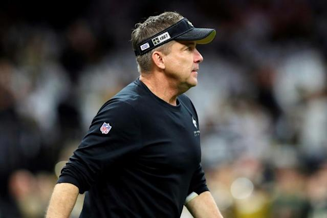 """New Orleans saints coach Sean Payton, the first known person in the NFL to test positive for coronavirus, says he has been cleared and is """"doing well"""" (AFP Photo/Kevin C. Cox)"""