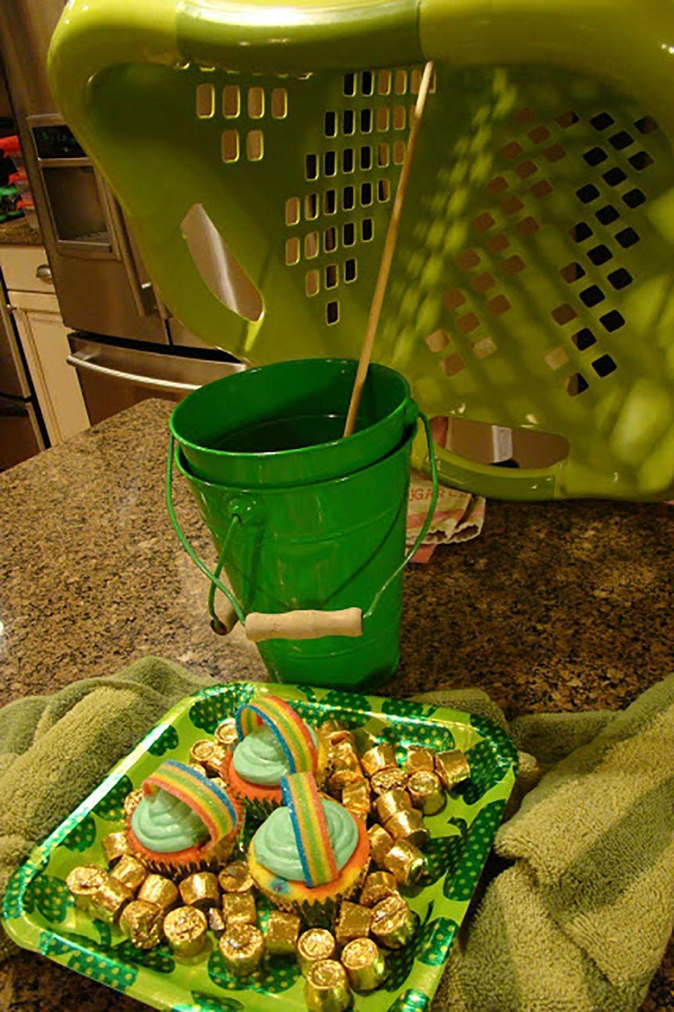 """<p>Have the kids help set up this trap—maybe this year you'll catch one of those pesky leprechauns!</p><p><strong>Get the tutorial at <a href=""""http://befickle.blogspot.com/2011/03/how-we-celebrate-st-pattys.html"""" rel=""""nofollow noopener"""" target=""""_blank"""" data-ylk=""""slk:The Fickle Pickle"""" class=""""link rapid-noclick-resp"""">The Fickle Pickle</a>. </strong></p>"""