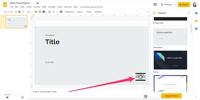 How to add a timer to Google Slides