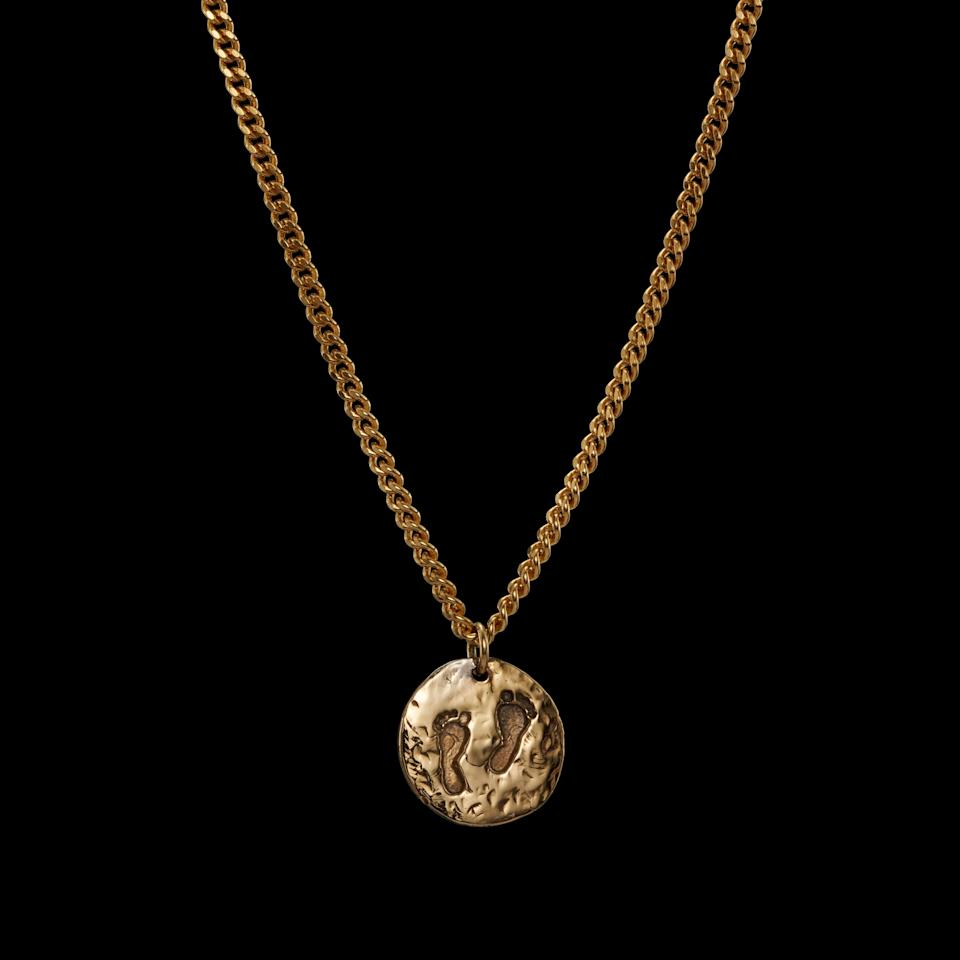 """<div class=""""caption""""> Walk Any Way You Want necklace in gold-plated silver </div> <cite class=""""credit"""">Photo: Courtesy Maria Nilsdotter</cite>"""