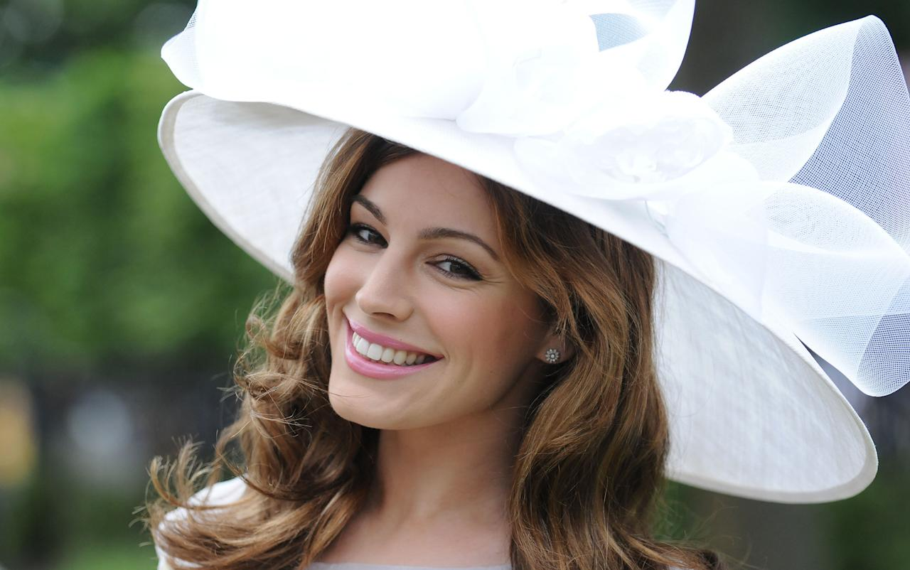 ASCOT, UNITED KINGDOM - JUNE 23: Kelly Brook attends day five of Royal Ascot at Ascot Racecourse on June 23, 2012 in Ascot, England. (Photo by Eamonn McCormack/Getty Images)