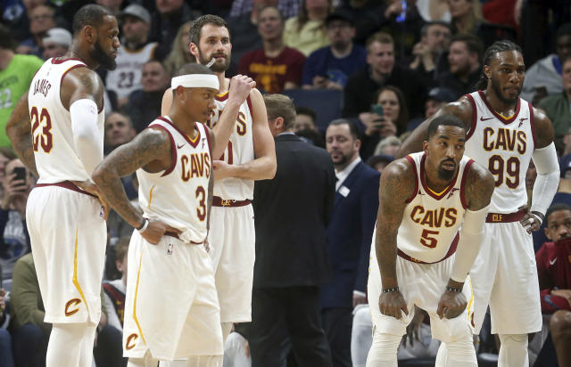 Kevin Love and Isaiah Thomas are at the center of the latest Cavs drama. (AP)