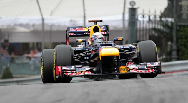 Red Bull Racing's German driver Sebastian Vettel drives at the Circuit de Monaco on May 27, 2012 in Monte Carlo during the Monaco Formula One Grand Prix. AFP PHOTO / JEAN-CHRISTOPHE MAGNENETPATRICE COPPEE/AFP/GettyImages
