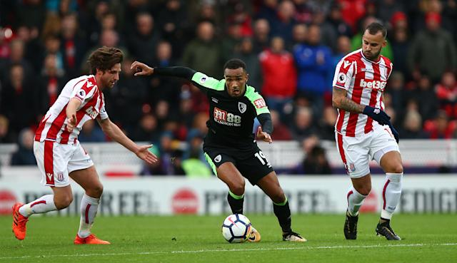 Like the rest of the team Junior Stanislas worked tirelessly to ensure we left the Potteries with a massive three points.