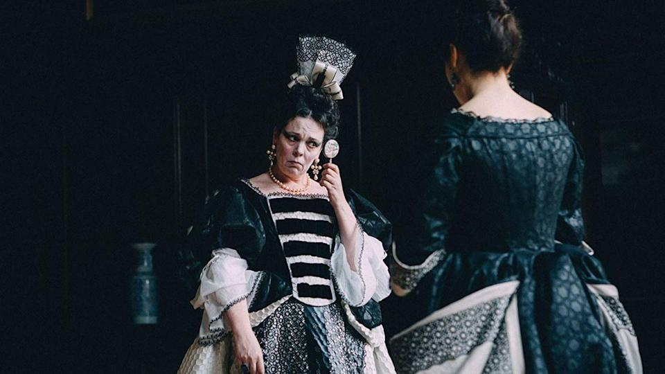 "<p>And now, for a queen-centric movie unlike <em>any </em>that have come before it. This irreverent, Oscar-nominated movie looks at the real (and really chaotic) court of Queen Anne (Olivia Colman), in which women compete to be named the queen's ""favorite."" </p><p><a class=""link rapid-noclick-resp"" href=""https://www.amazon.com/Favourite-Olivia-Colman/dp/B07L9CV4VD?tag=syn-yahoo-20&ascsubtag=%5Bartid%7C10063.g.35089329%5Bsrc%7Cyahoo-us"" rel=""nofollow noopener"" target=""_blank"" data-ylk=""slk:Watch Now"">Watch Now</a></p>"