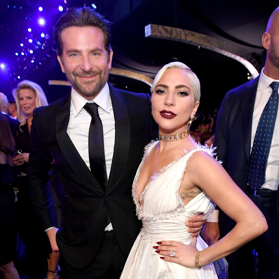 Bradley Cooper and Lady Gaga attend the 25th Annual Screen Actors Guild Awards. (Photo by Kevin Mazur/Getty Images for Turner)