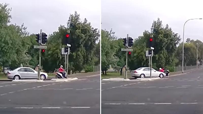Dashcam vision caught the incident which has left social media divided over who was at fault. Source: Facebook