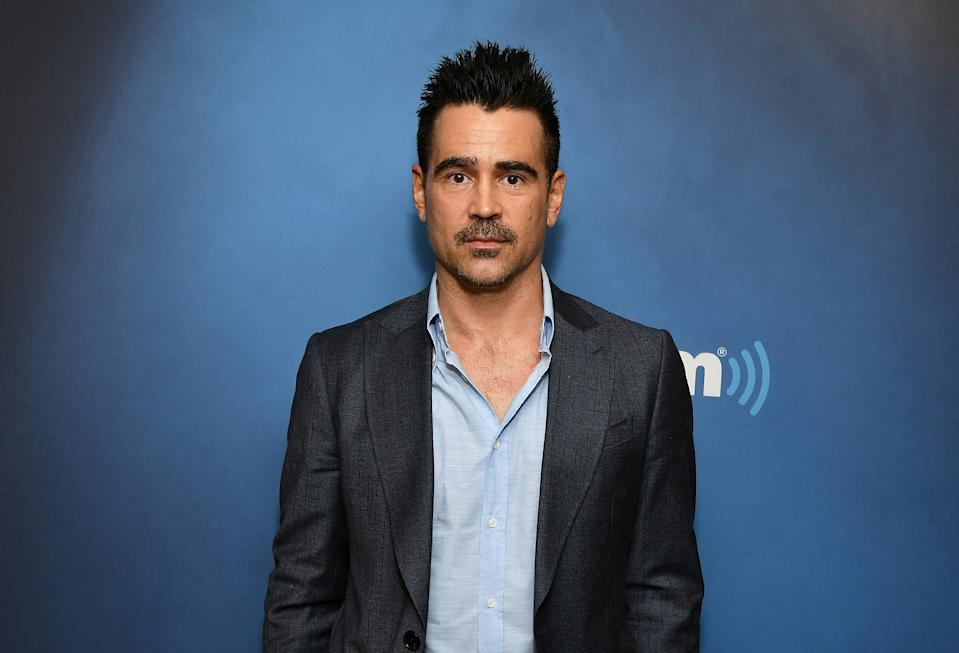 NEW YORK, NY - MARCH 26:  (EXCLUSIVE COVERAGE) Actor Colin Farrell visits Morning Mash Up at SiriusXM Studios on March 26, 2019 in New York City.  (Photo by Slaven Vlasic/Getty Images)