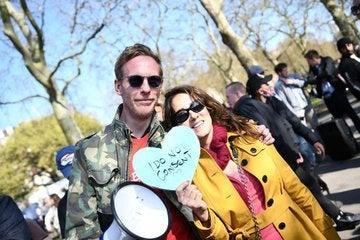 Laurence Fox tweeted from the march.twitter