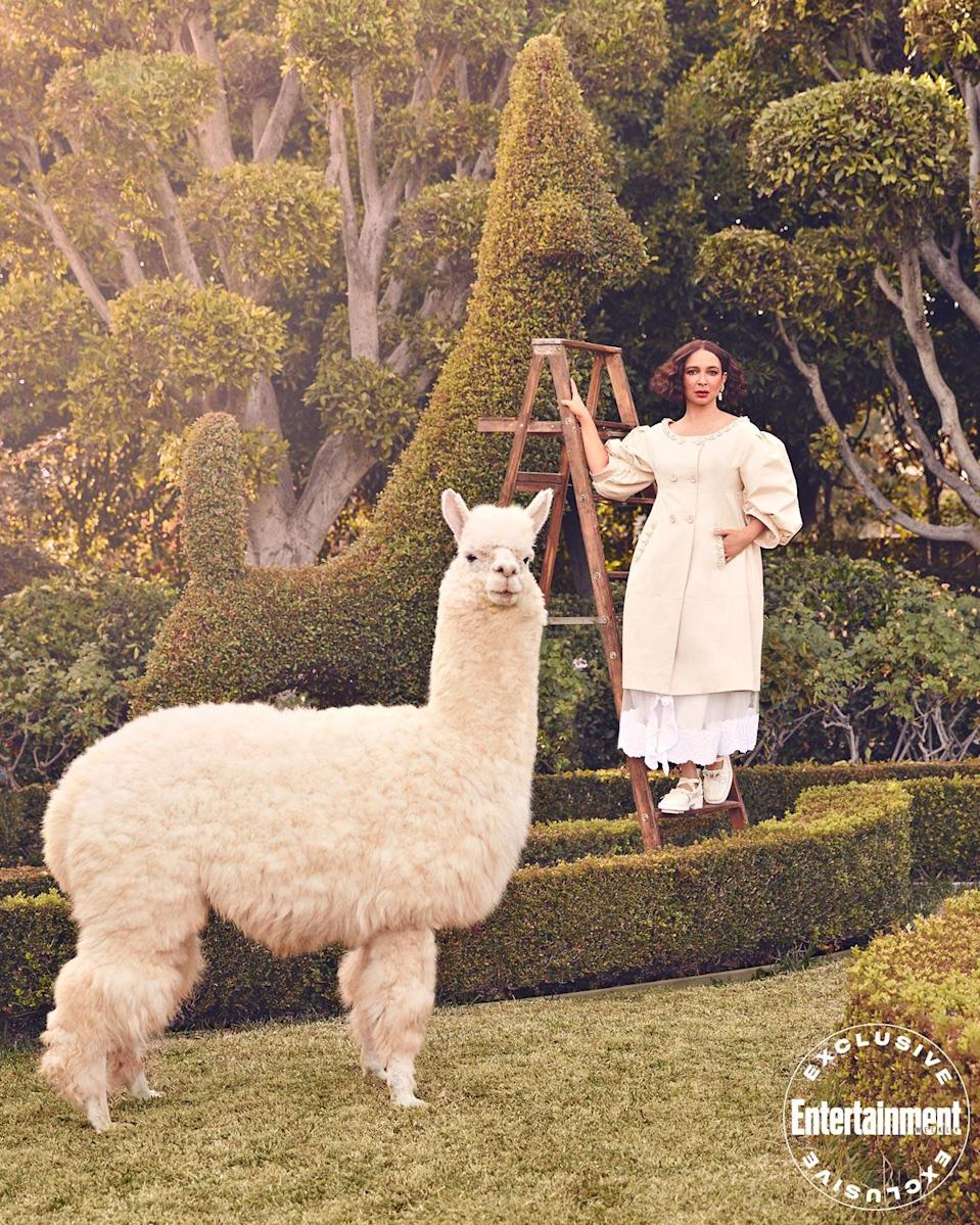 """<p>While she's booked to appear indefinitely as Harris, Rudolph (seen here with her EW photo shoot costar Chester the llama) will also stay busy this year with additional voice roles including Fox's <em>Bless the Harts</em> and the feature-length <a href=""""https://ew.com/movies/netflix-acquires-the-mitchells-vs-the-machines/"""" rel=""""nofollow noopener"""" target=""""_blank"""" data-ylk=""""slk:The Mitchells vs. the Machines"""" class=""""link rapid-noclick-resp""""><em>The Mitchells vs. the Machines</em></a>, due later this year on Netflix.</p>"""