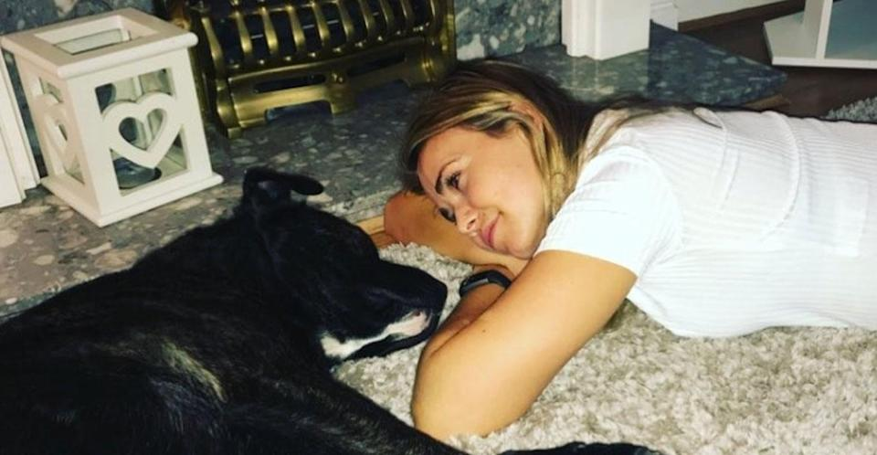 Laura Tott says he dog was randomly shot and killed while out on a country walk. (Instagram)