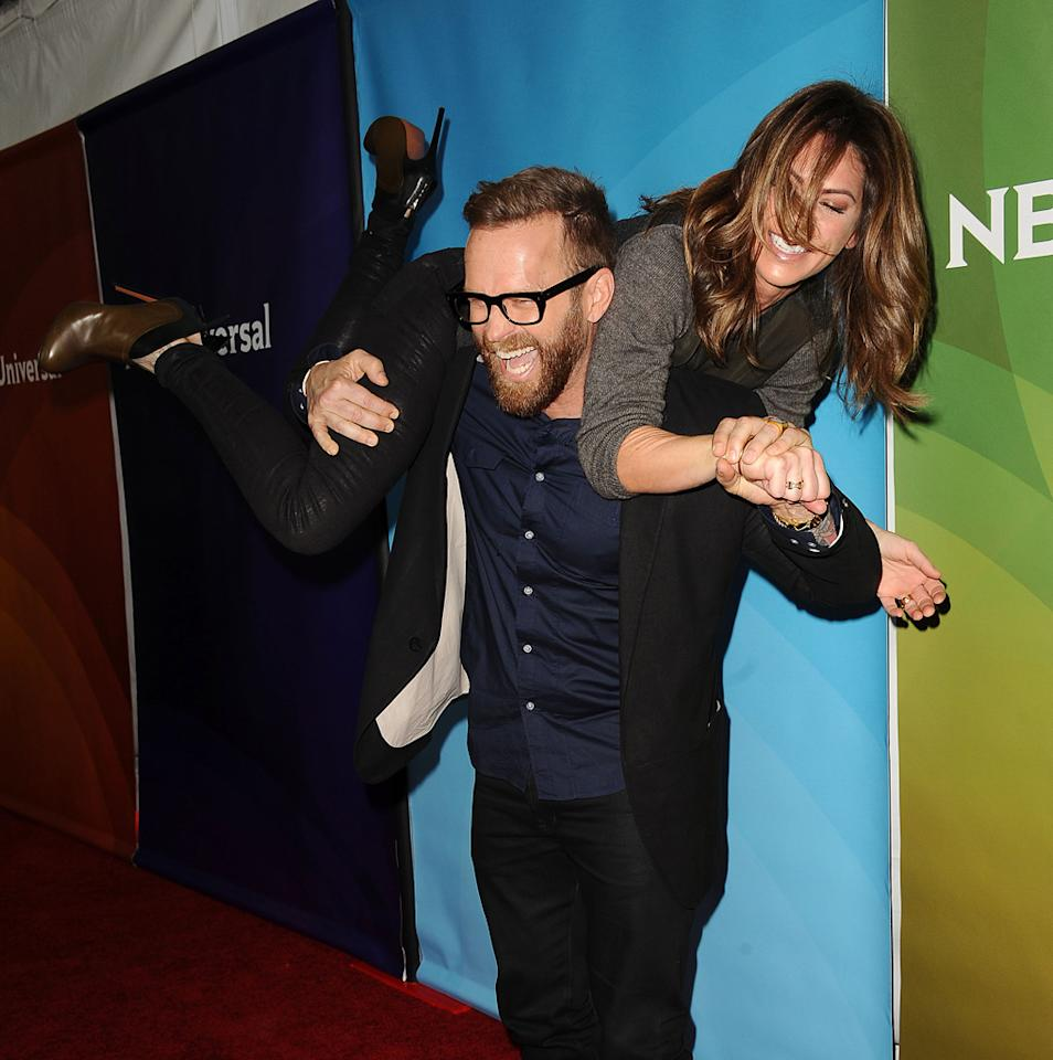 PASADENA, CA - JANUARY 06:  Bob Harper and Jillian Michaels attend the 2013 NBC TCA Winter Press Tour at The Langham Huntington Hotel and Spa on January 6, 2013 in Pasadena, California.  (Photo by Jason LaVeris/FilmMagic)