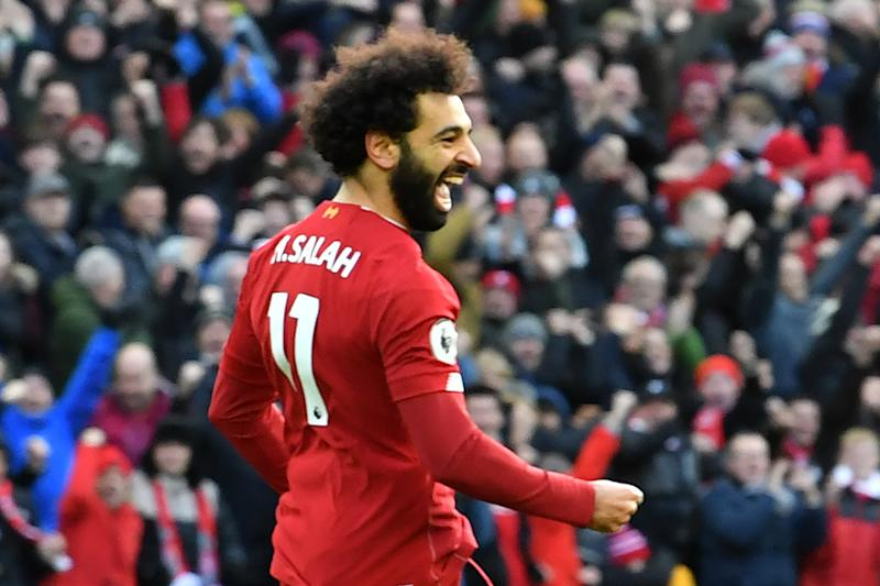 Mohamed Salah scored two nice goals in Liverpool's win over Watford. (Photo by PAUL ELLIS/AFP via Getty Images)