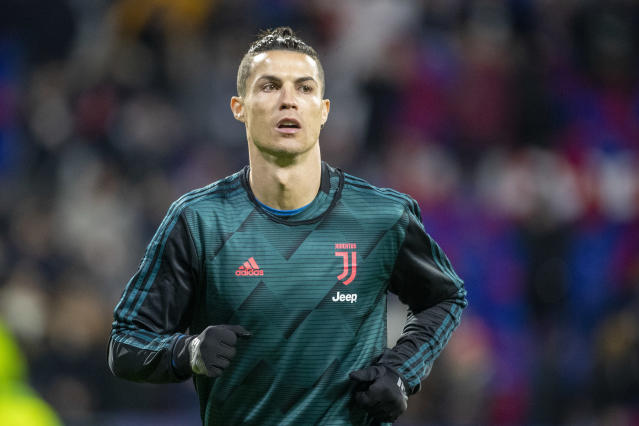 "<a class=""link rapid-noclick-resp"" href=""/soccer/players/373159/"" data-ylk=""slk:Ronaldo"">Ronaldo</a> has been quarantining in Madeira, but is now reportedly stranded there just one day before Juventus begins training. (Photo by Tim Clayton/Corbis via Getty Images)"