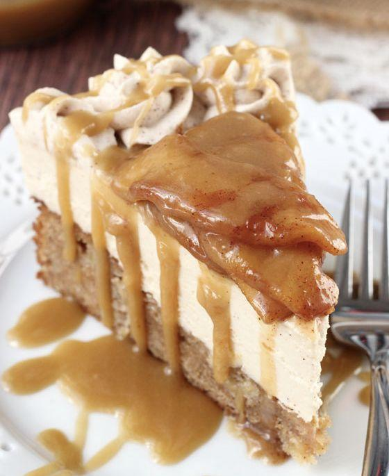 "<strong>Get the <a href=""http://www.lifeloveandsugar.com/2014/09/15/caramel-apple-blondie-cheesecake/"" target=""_blank"">Caramel Apple Blondie Cheesecake recipe</a> from Life, Love & Sugar</strong>"