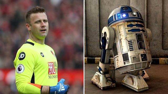 <p>R2 Boruc – The Bournemouth keeper and a squeaky-noised robot </p>