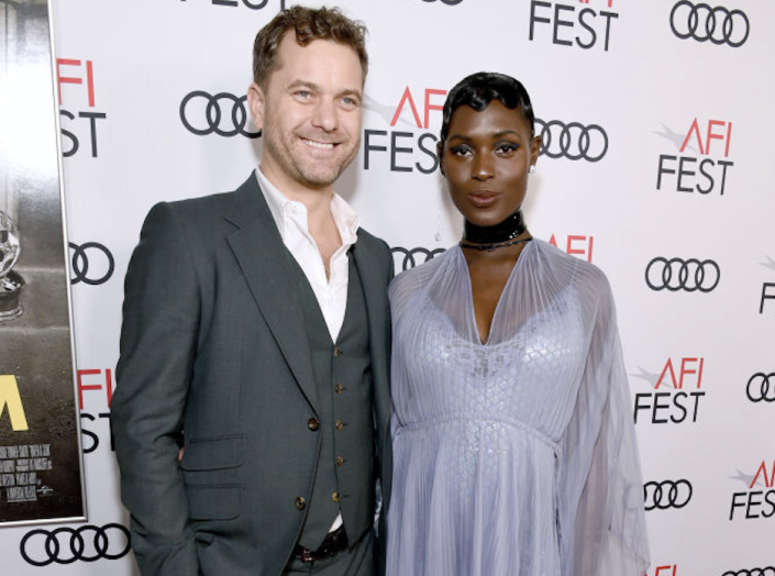 Jodie Turner-Smith, right, chose to give birth to her child with Joshua Jackson, at home. (Photo: Michael Kovac/Getty Images for AFI)