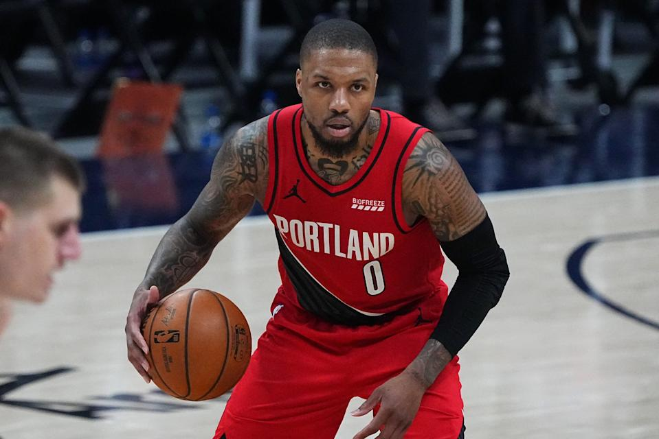Damian Lillard scored 55 points in Game 5 of the first round against the Nuggets, a 147-140 loss in double overtime June 1 in Denver, which put the Nuggets up 3-2 in the series.