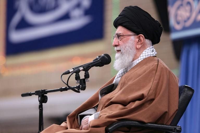 Iran's supreme leader Ayatollah Ali Khamenei hits out at the United States in his first public comments since deadly weekend US air strikes on pro-Iran fighters in western Iraq