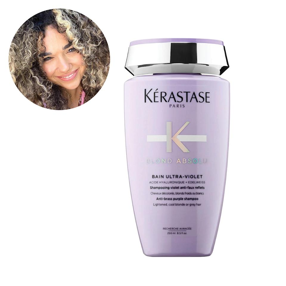 "From the minute I started dying my hair, this is what I used. The texture of this shampoo makes it easy for my hair to absorb the formula—it really integrates into each of my hair cuticles. I use this regularly and notice a consistent tone to my hair because of it. Like a lot of other Kérastase products, the formula is also really hydrating, so you feel <em>and</em> see the difference. <em>—</em><a href=""https://www.instagram.com/wbywhitewolfe/?hl=en"" rel=""nofollow noopener"" target=""_blank"" data-ylk=""slk:Tammy Christina"" class=""link rapid-noclick-resp""><em>Tammy Christina</em></a><em>, presenter, writer, and digital creator</em> $35, Kérastase. <a href=""https://shop-links.co/1735086243721481557"" rel=""nofollow noopener"" target=""_blank"" data-ylk=""slk:Get it now!"" class=""link rapid-noclick-resp"">Get it now!</a>"