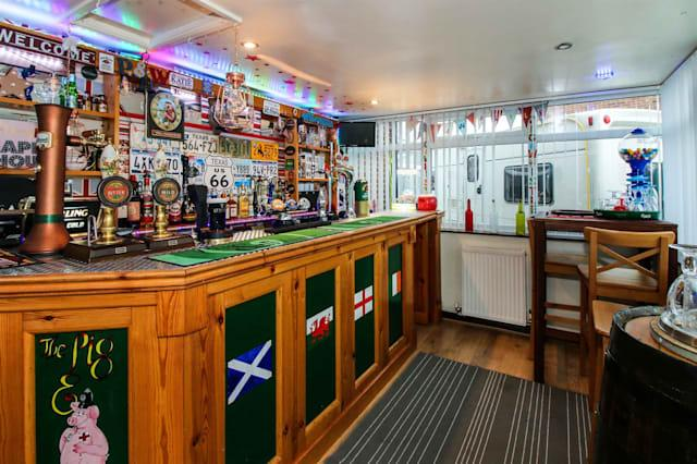 The traditional pub in a home in Wyke