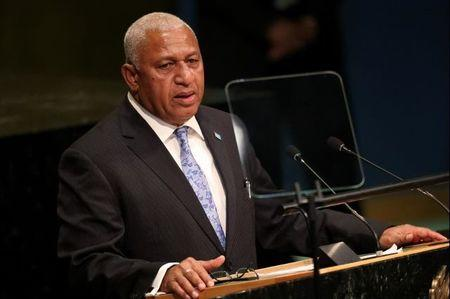 Prime Minister Frank Bainimarama of Fiji addresses the 71st United Nations General Assembly in New York