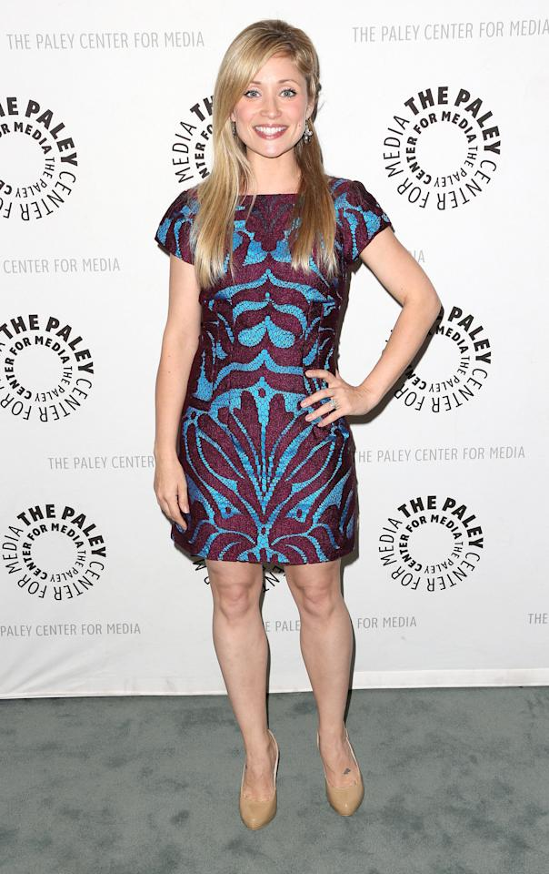 """BEVERLY HILLS, CA - APRIL 12: Actress Emme Rylan attends The Paley Center for Media Presents """"General Hospital: Celebrating 50 years and Looking Forward"""" at The Paley Center for Media on April 12, 2013 in Beverly Hills, California.  (Photo by Frederick M. Brown/Getty Images)"""