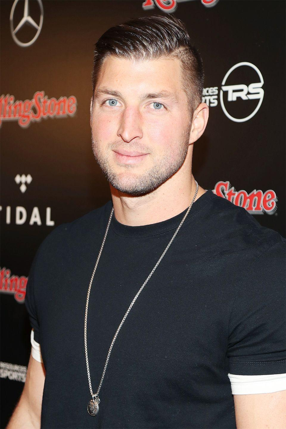 """<p>The former New York Jets quarterback is a devout Christian, and admitted that he was saving himself for marriage. """"It's about finding a girl who likes me for me, and not because of what I do, or who I am, or the name,"""" he said in <a href=""""http://people.com/celebrity/sean-lowe-tim-tebow-lolo-jones-celebrity-virgins/#tim-tebow"""" rel=""""nofollow noopener"""" target=""""_blank"""" data-ylk=""""slk:an interview"""" class=""""link rapid-noclick-resp"""">an interview</a>. </p><p>In a different interview with <em><a href=""""http://people.com/sports/tim-tebow-on-marriage-and-family-i-want-my-kids-to-know-my-dad/"""" rel=""""nofollow noopener"""" target=""""_blank"""" data-ylk=""""slk:People"""" class=""""link rapid-noclick-resp"""">People</a></em> in 2016, he reiterated that he's anxious, but still waiting. """"I think it's something that I'll have to trust God for,"""" he says. """"He'll bring someone along at the right time.""""</p>"""