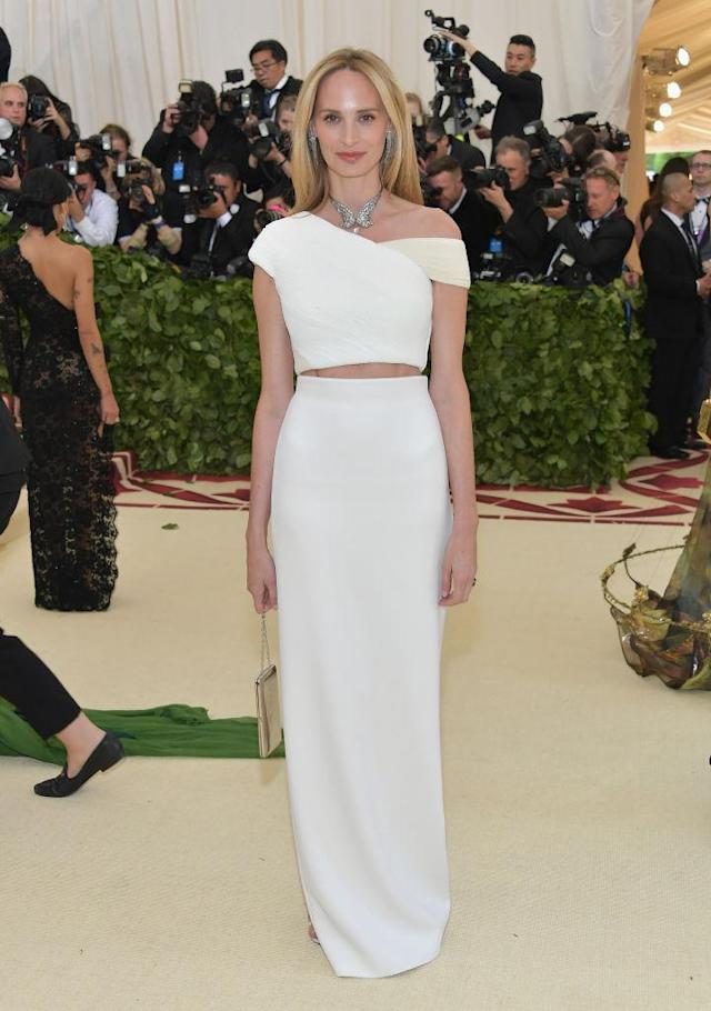 <p>Lauren Santo Domingo in Calvin Klein by Appointment. (Photo: Getty Images) </p>