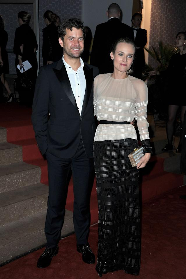 CANNES, FRANCE - MAY 27:  (L-R) Actors Joshua Jackson and Diane Kruger attend the Winners Dinner Arrivals during the 65th  Annual Cannes Film Festival on May 27, 2012 in Cannes, France.  (Photo by Pascal Le Segretain/Getty Images)