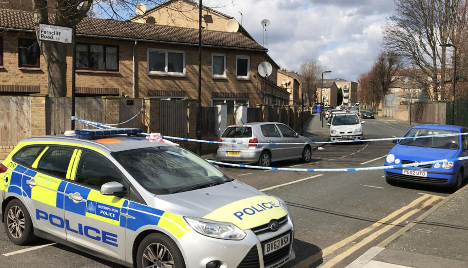 Abraham Badru, 26, was shot dead down in Hackney, east London, last month (Picture: PA)
