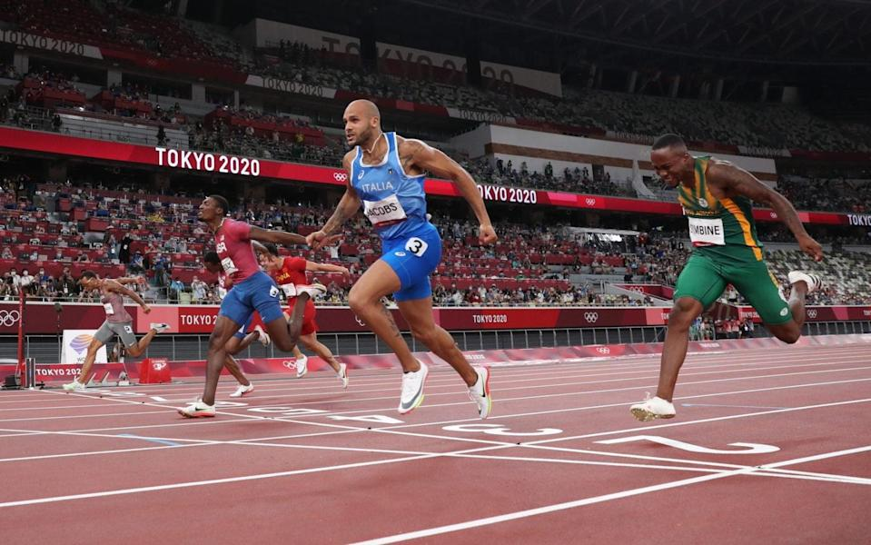 Lamont Marcell Jacobs of Team Italy wins the Men's 100m Final - Getty