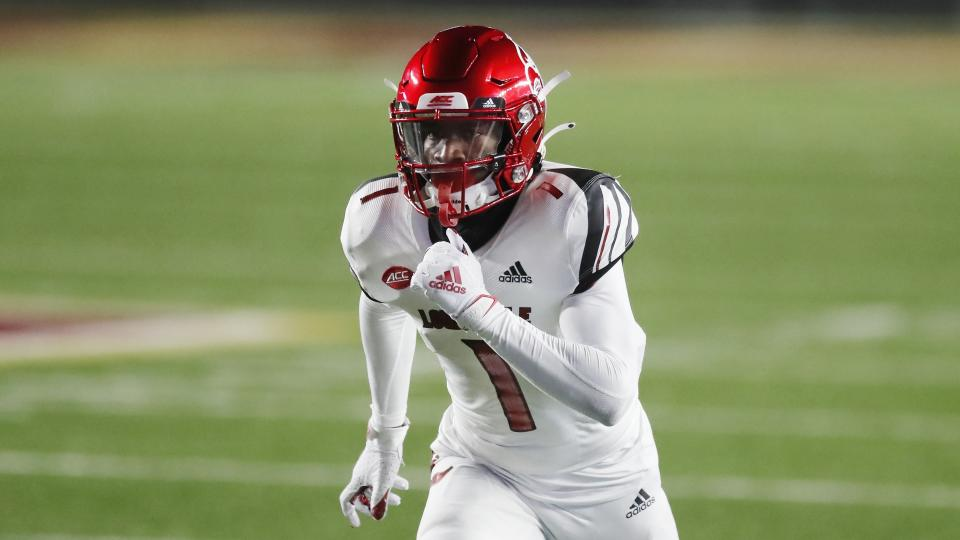 Louisville wide receiver Tutu Atwell is an electric playmaker but also shockingly small. (AP Photo/Michael Dwyer)