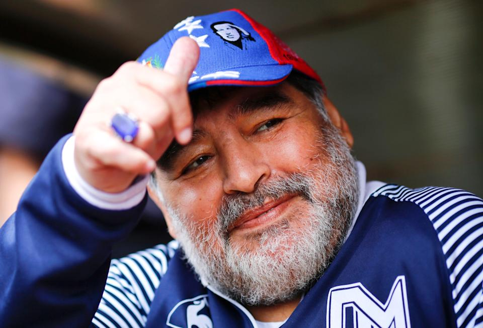 Diego Maradona was reported to have said he didn't feel well shortly before he died on Wednesday (Getty)