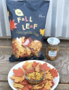 <p>For a little snackable item to put out during the football game and before the big meal, these fall leaf chips are a total must. </p>
