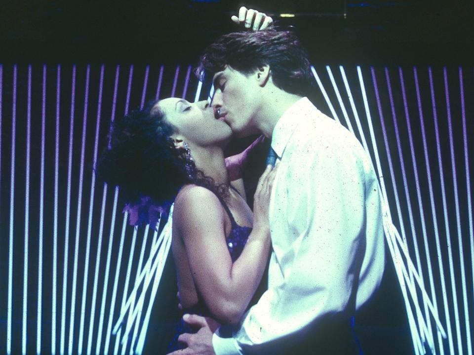 Barrowman in The Fix with Krysten Cummings at the Donmar Theatre, London, in 1997Rex Features