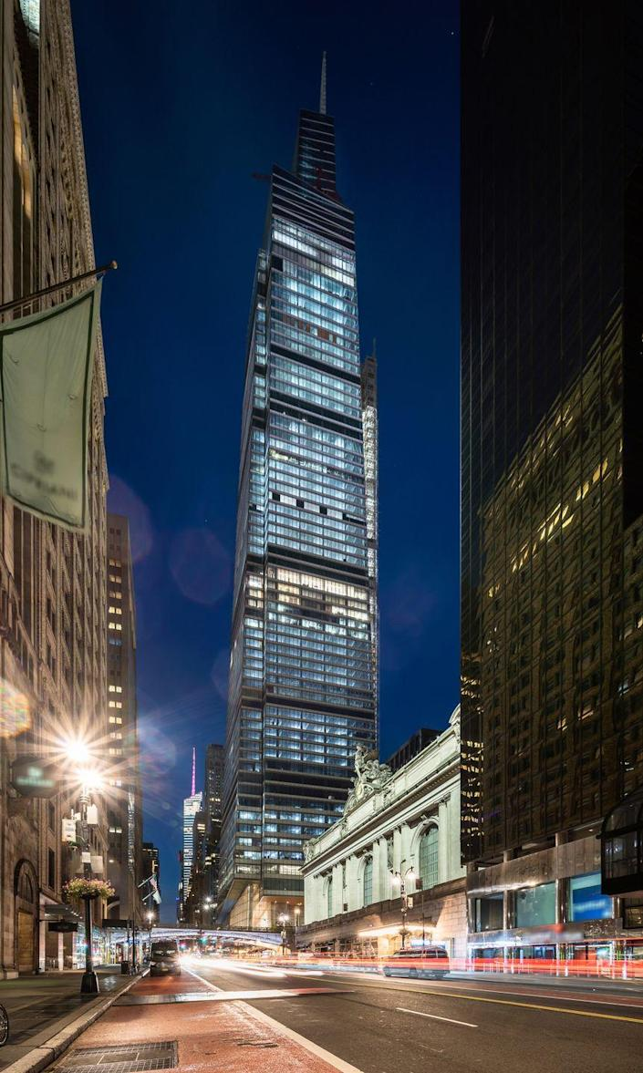<p><strong>Location: </strong>New York, New York</p><p><strong>Height: </strong>1,401</p><p><strong>Completion Date: </strong>2020</p><p>One Vanderbilt is also located in midtown and is a stone's throw from Grand Central Station. The building takes up an entire block and several stories are designated office space. The remaining space includes an observation deck and plans for a couple of restaurants, too. This building contains 67 floors, which may not seem like a lot for such a massive structure, due to the fact that each floor has high ceilings (some reach 20 feet!)</p><p><em><strong>Honorable mention:</strong> The Dongguan International Trade Center 1 in Guangdong, China is also 1,401 feet tall.</em></p>
