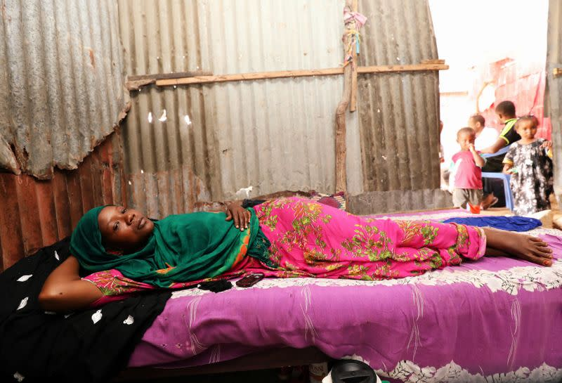 Kadija Mohamed Sidow is seen during a Reuters interview at her house in Mogadishu