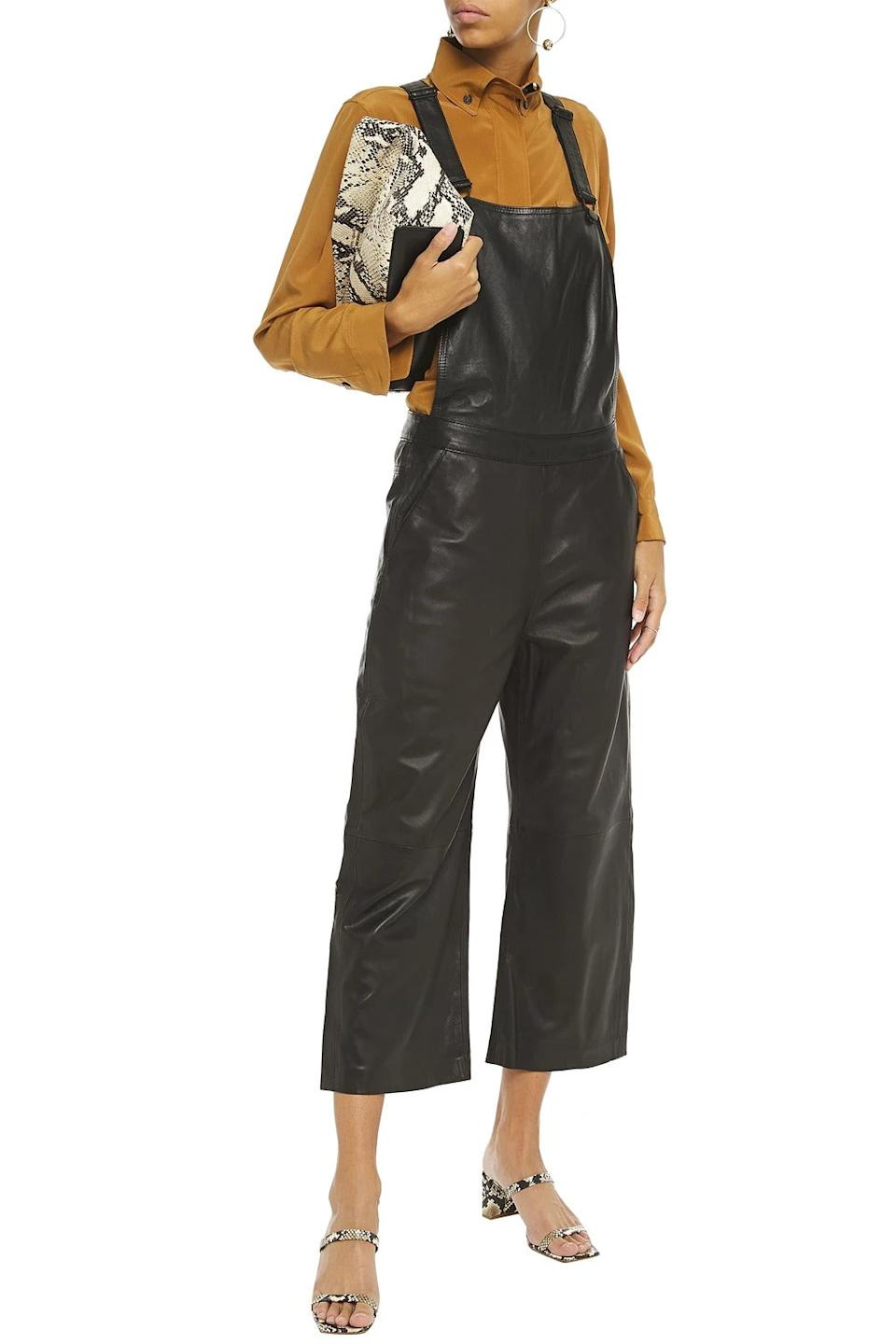 """<br><br><strong>Muubaa</strong> Dorian cropped leather overalls, $, available at <a href=""""https://go.skimresources.com/?id=30283X879131&url=https%3A%2F%2Fwww.theoutnet.com%2Fen-us%2Fshop%2Fproduct%2Fmuubaa%2Fjumpsuits%2Fcropped-jumpsuits%2Fdorian-cropped-leather-overalls%2F19971654706936862"""" rel=""""nofollow noopener"""" target=""""_blank"""" data-ylk=""""slk:The Outnet"""" class=""""link rapid-noclick-resp"""">The Outnet</a>"""