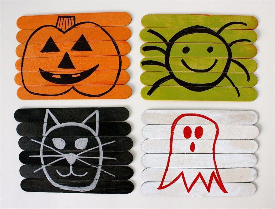 "<p>This easy project is a Halloween craft and game all in one. Make them reversible for double the fun.</p><p><strong>Get the tutorial at <a href=""http://www.madeeveryday.com/2011/10/diy-reversible-puzzle-craft.html/"" rel=""nofollow noopener"" target=""_blank"" data-ylk=""slk:Made Everyday"" class=""link rapid-noclick-resp"">Made Everyday</a>.</strong></p><p><a class=""link rapid-noclick-resp"" href=""https://www.amazon.com/Acerich-Sticks-Wooden-Popsicle-Length/dp/B01ECBIQAI/?tag=syn-yahoo-20&ascsubtag=%5Bartid%7C10050.g.4950%5Bsrc%7Cyahoo-us"" rel=""nofollow noopener"" target=""_blank"" data-ylk=""slk:SHOP POPSICLE STICKS"">SHOP POPSICLE STICKS</a></p>"