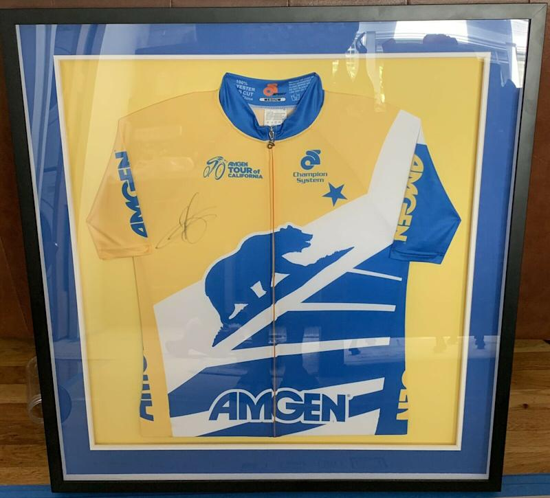 A signed-by-Peter-Sagan Tour of California leader's jersey from the 2015 race available in eBay