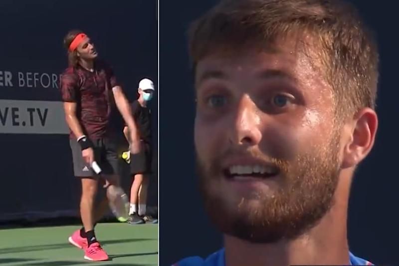 'Stefanos Tsitsipas' Father is Stupid': Frenchman Corentin Moutet Loses Cool During Match at Ultimate Tennis Showdown