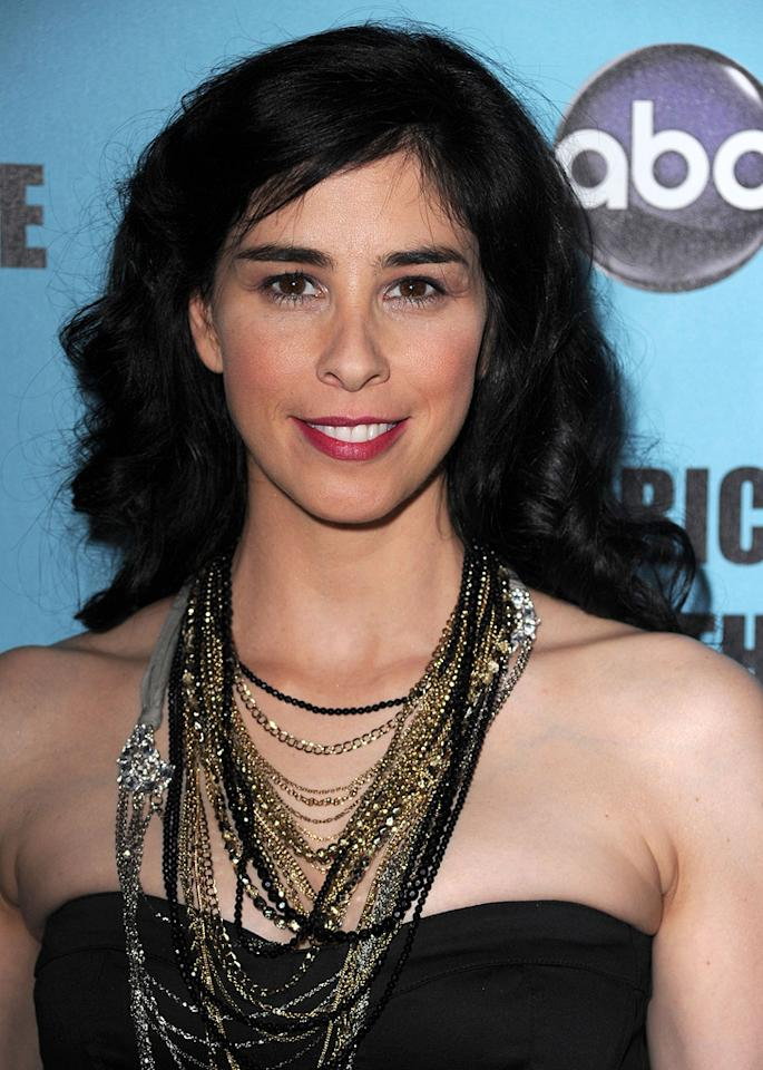 """<a href=""""http://movies.yahoo.com/movie/contributor/1800359449"""">Sarah Silverman</a> at the 24th American Cinematheque Annual Gala Honoring Matt Damon on March 27, 2010."""