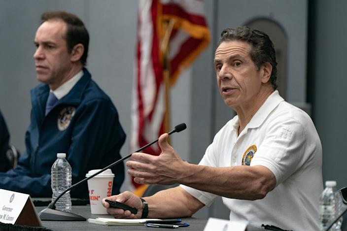 New York Gov. Andrew Cuomo during a news conference on March 27.