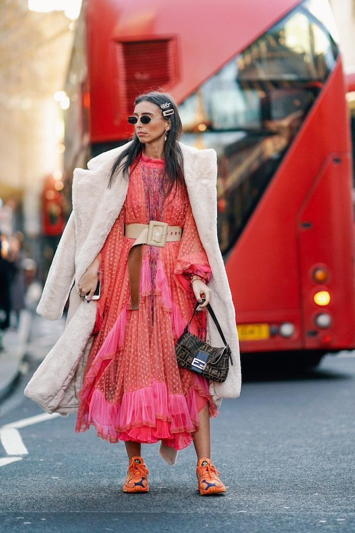 <p>Gabriella Berdugo arrived at 180 The Strand ticking all the right fashion boxes with micro sunnies, glitzy hair barrettes and that Fendi baguette bag in tow. <em>[Photo: Getty]</em> </p>