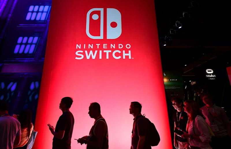 People wait in line for a chance to sample new games for Nintendo Switch at the 2019 Electronic Entertainment Expo, also known as E3, opening in Los Angeles, California on June 11, 2019: FREDERIC J. BROWN/AFP via Getty Images