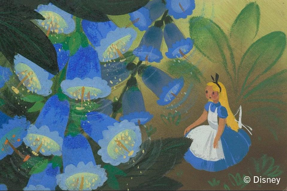 A detail from Mary Blair's concept art for the 1951 Disney film of Alice's Adventures in WonderlandDisney